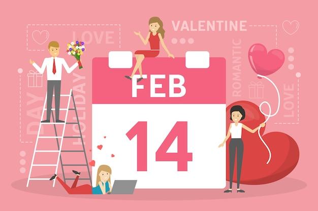 Conceito de dia dos namorados. as pessoas celebram o dia romântico