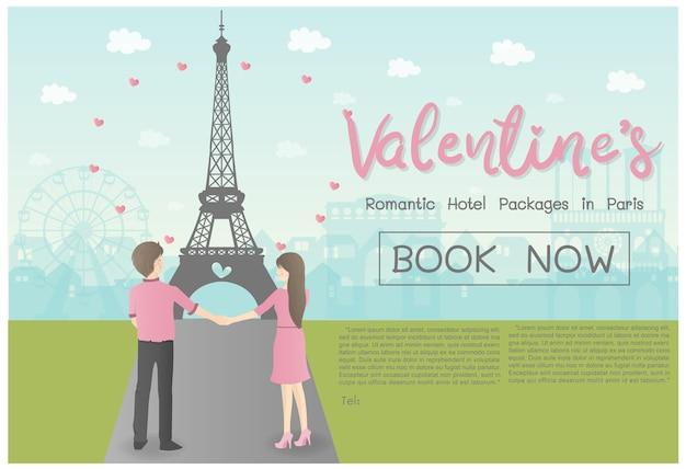 Conceito de dia dos namorados para design de publicidade viagem viagem