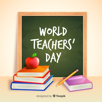 Conceito de dia dos professores realista