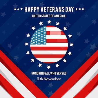 Conceito de dia dos veteranos em design plano