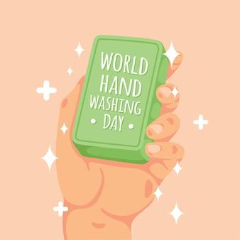 Conceito de dia global de lavagem das mãos