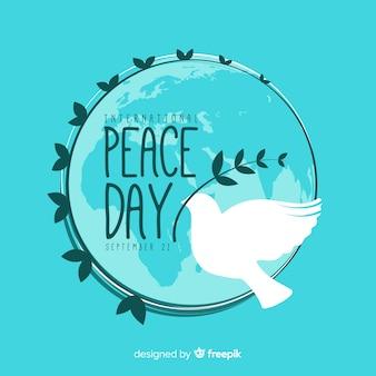 Conceito de dia internacional da paz com pomba branca