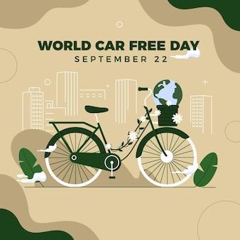Conceito de dia livre de carro mundo design plano