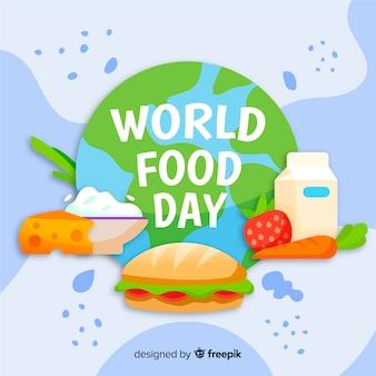 Conceito de dia mundial da comida com fundo de mão desenhada