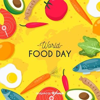 Conceito de dia mundial da comida com fundo design plano