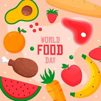 Conceito de dia mundial da comida de design plano