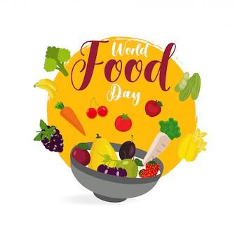 Conceito de dia mundial da comida.