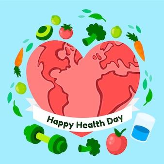 Conceito de dia mundial da saúde design plano