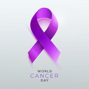Conceito de dia mundial do câncer.