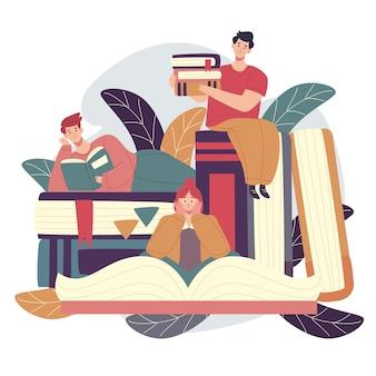 Conceito de dia mundial do livro design plano