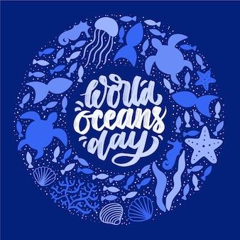 Conceito de dia mundial dos oceanos