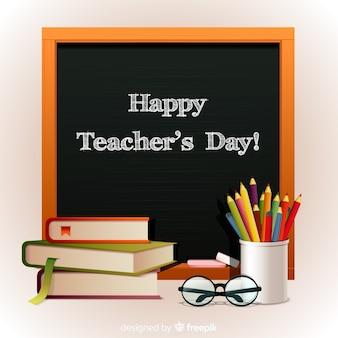 Conceito de dia mundial dos professores com fundo realista