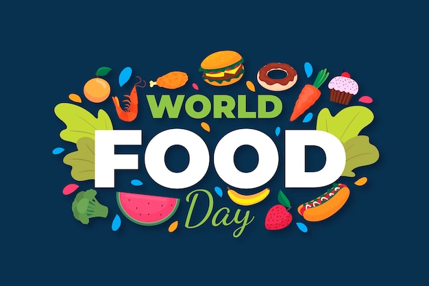 Conceito de dia mundial plano da comida