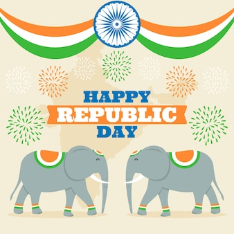 Conceito de dia nacional da república indiana