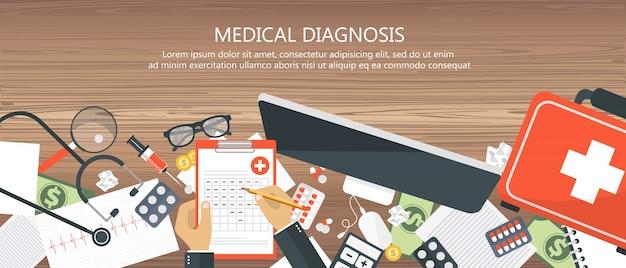 Conceito de diagnóstico médico