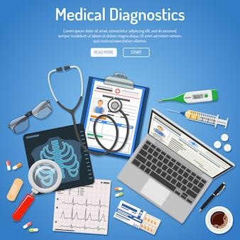 Conceito de diagnósticos médicos