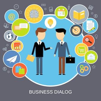Conceito de diálogo de negócios