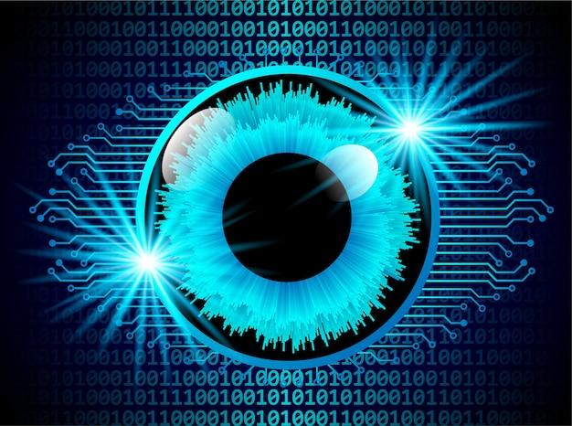 Conceito de digitalização digital de segurança ocular