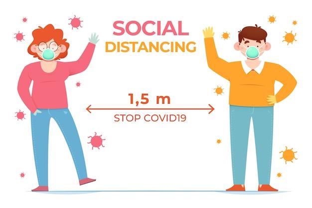 Conceito de distanciamento social