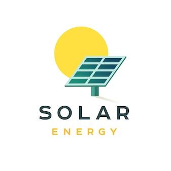 Conceito de distintivo de energia solar