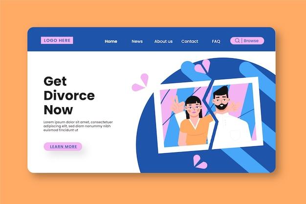 Conceito de divórcio - página de destino