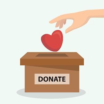 Conceito de doação de coração e órgão, pode ser usado para cartaz e plano de fundo