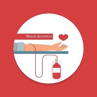 Conceito de doação de sangue
