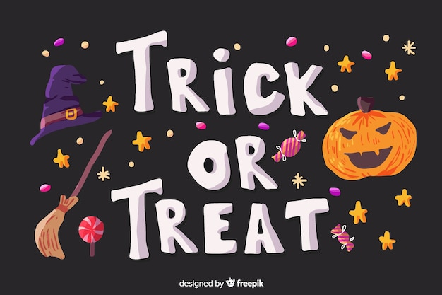 Conceito de doces ou travessuras de halloween