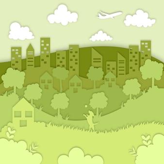 Conceito de ecologia em estilo de jornal