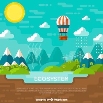Conceito de ecossistema com balão