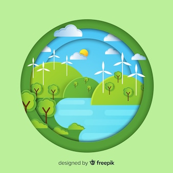 Conceito de ecossistema em estilo simples