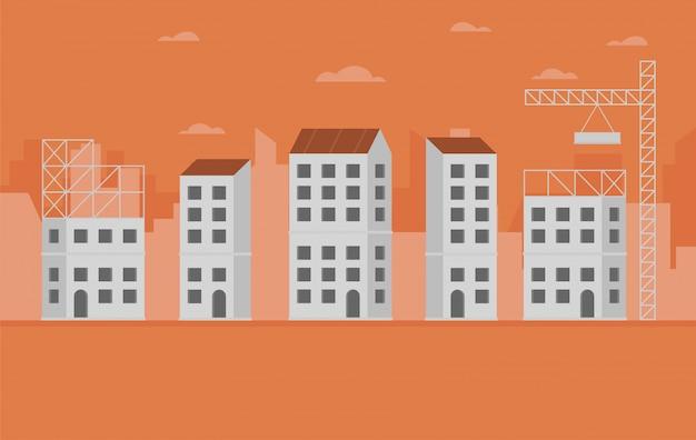 Conceito de edifícios de construção da cidade