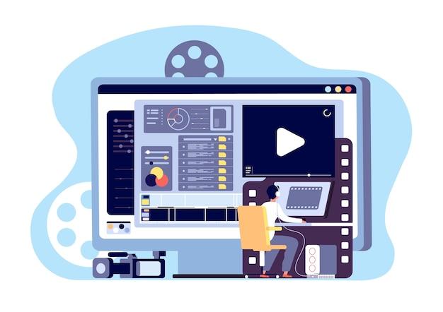 Conceito de editor de vídeo