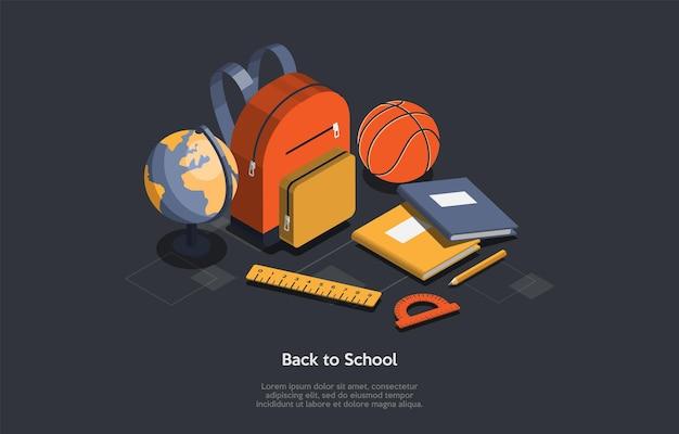 Conceito de educação, bem-vindo de volta à escola