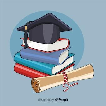 Conceito de educação colorido mão desenhada
