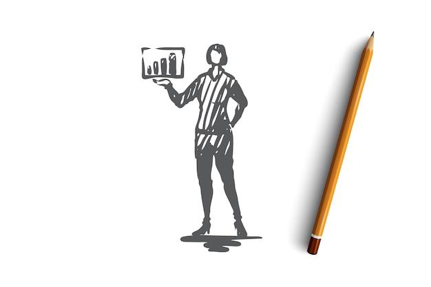 Conceito de educação de quadro de apresentação de palestrante de treinamento