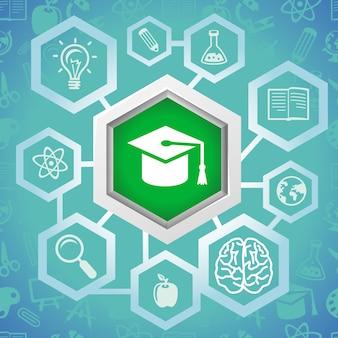 Conceito de educação de vetor - elementos da ciência