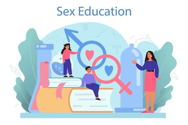 Conceito de educação sexual.