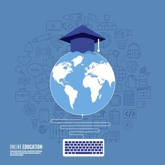 Conceito de educações on-line