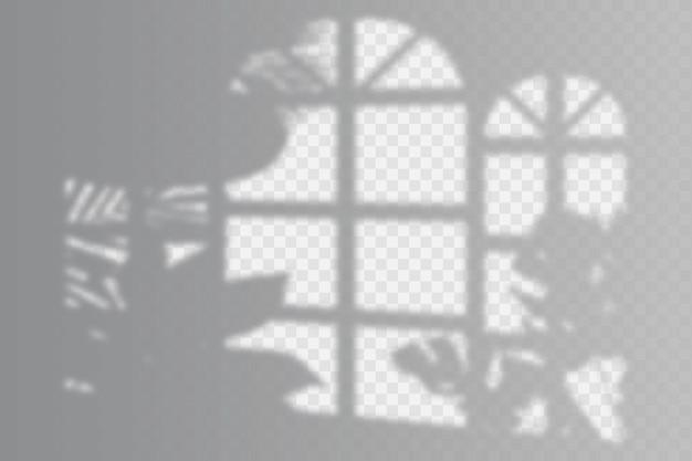 Conceito de efeito de sobreposição de sombras transparentes
