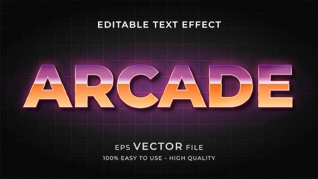 Conceito de efeito de texto editável de jogo de arcade