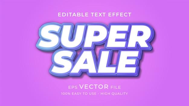 Conceito de efeito de texto editável super venda