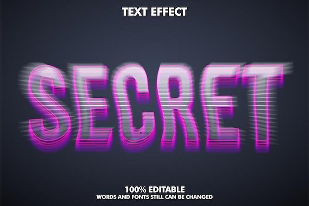 Conceito de efeito de texto glitch com desfoque