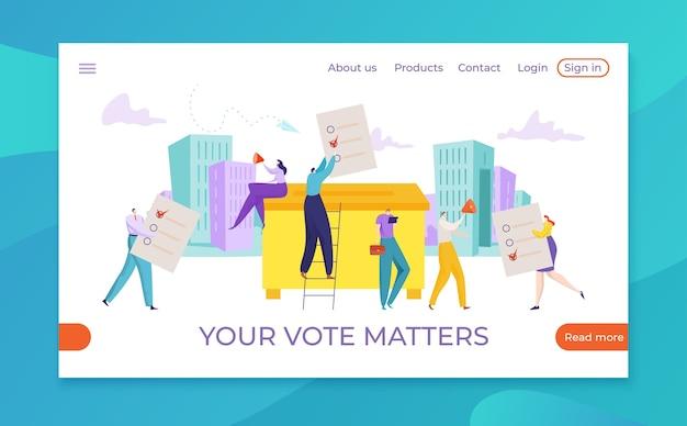 Conceito de eleição, ilustração de escolha de pesquisa