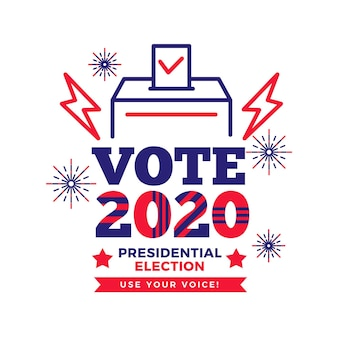 Conceito de eleição presidencial dos eua em 2020