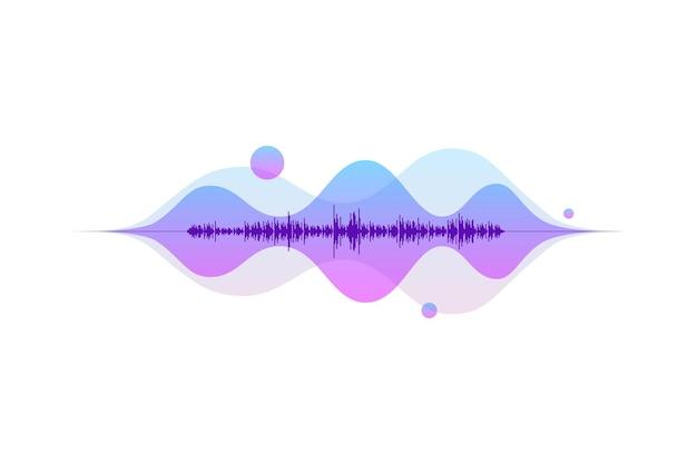 Conceito de elemento musical de vetor de fluxo de luz de equalizador digital abstrato de onda sonora