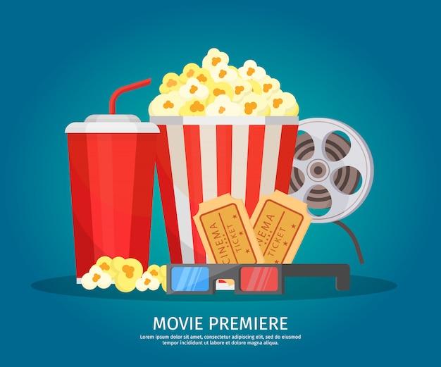 Conceito de elementos de cinema