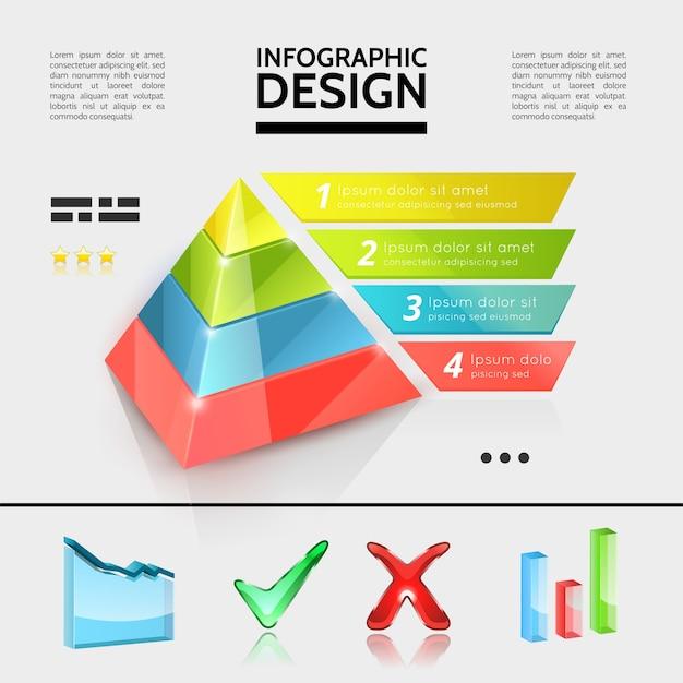 Conceito de elementos de infográfico de negócios coloridos