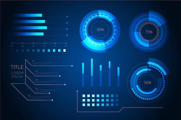 Conceito de elementos futurista infográfico