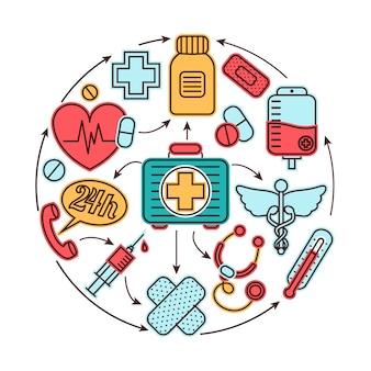 Conceito de elementos médicos